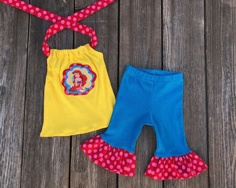 Ariel Little Mermaid Girl Outfit