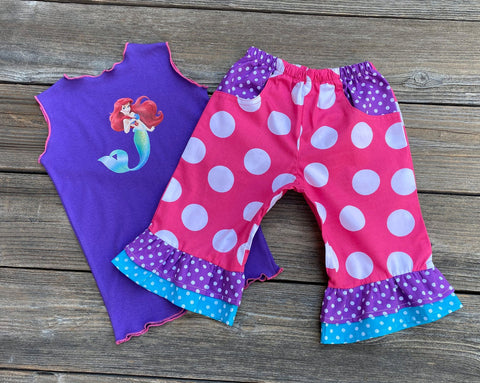 Ariel Mermaid Boutique Girl Outfit