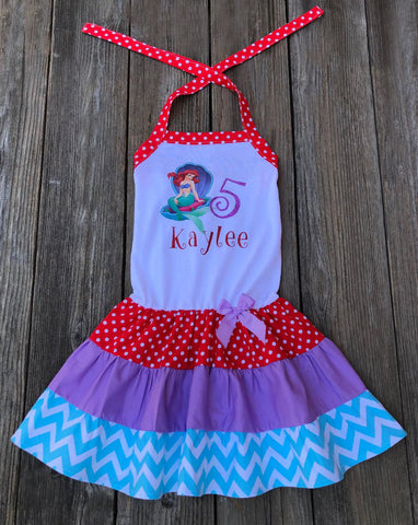 Ariel Mermaid Boutique GIrl Dress