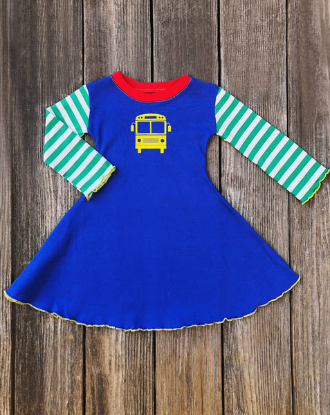 Back To School Bus Girl Dress