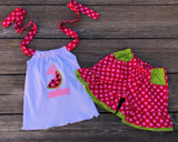 Watermelon Birthday Girl Outfit
