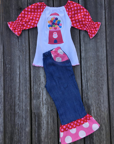 candyland bubble gum machine outfit