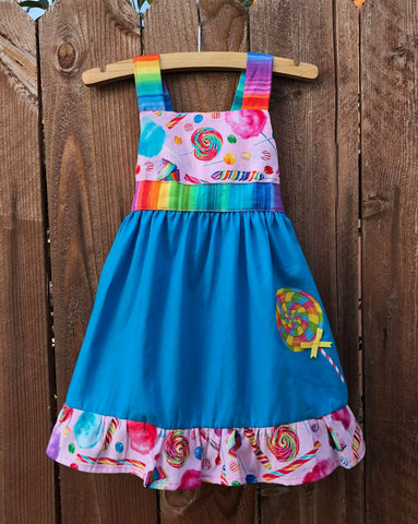 Candyland Lollipop Dress Girls
