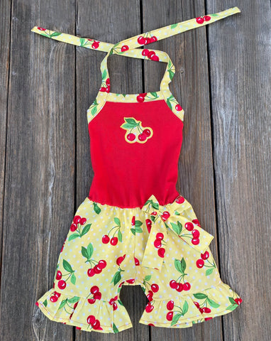 Cherry Print Toddler Girl Outfit