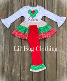 Christmas Holiday Minnie Mouse Girl Outfit