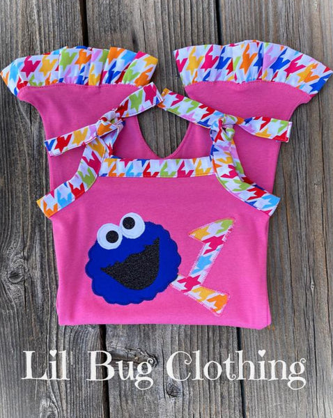 Cookie Monster Birthday Outfit