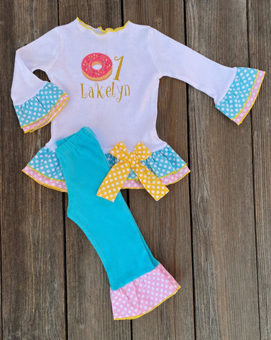 Donut Birthday Girl Outfit
