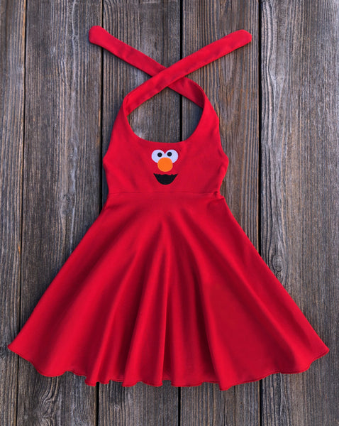 Red Elmo Girl Dress Summer