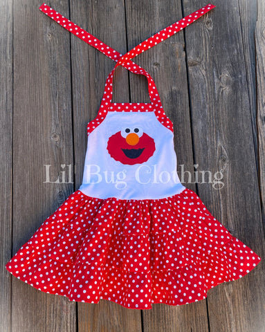 Elmo Toddler Girl Dress