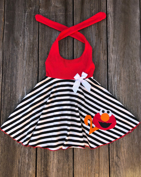 Elmo Birthday Girl Dress