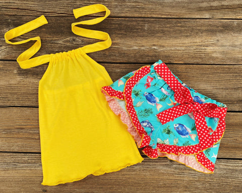 Fish Print Summer Girl Outfit
