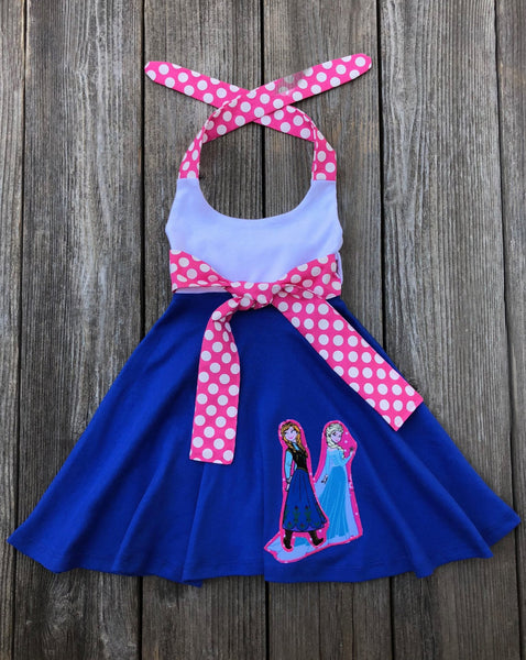Anna Elsa Frozen Girl Dress