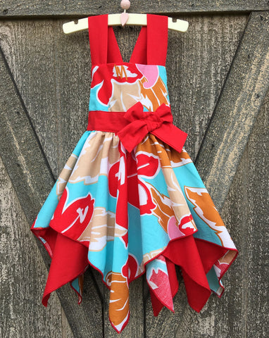 Hawaiian Luau Girl Dress