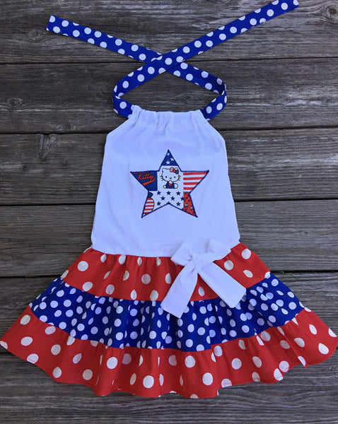Hello Kitty patriotic dress