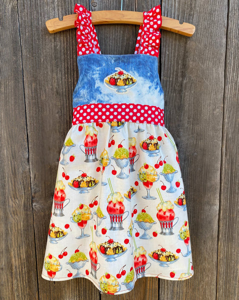 Ice Cream Social Girl Dress