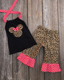 Leopard Minnie Mouse Girl Outfit