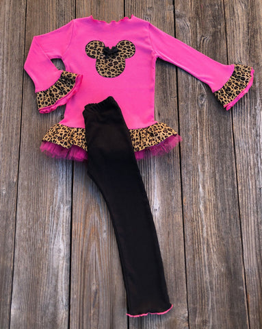 Leopard Print Minnie Mouse Outfit