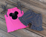 Minnie Mouse toddler girl outfit