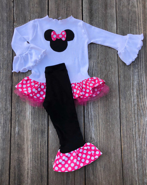 Minnie Mouse Red White Polka Dot Outfit