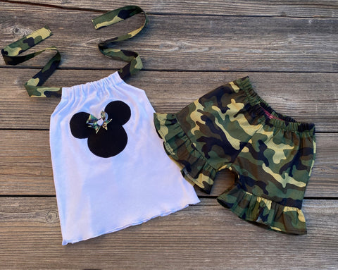 Minnie Mouse toddler baby girl outfit