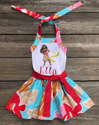 Moana Birthday Girl Dress