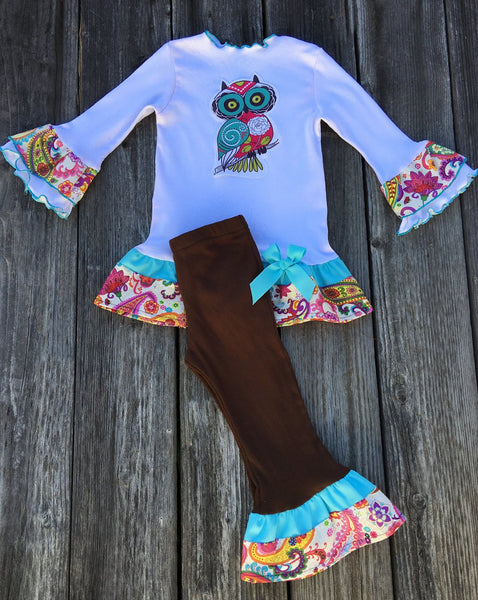 owl tee leggings pant