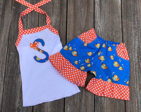 Fish Print Girl Outfit
