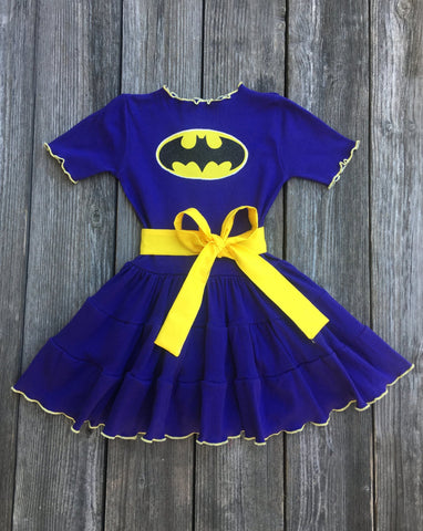 purple batgirl dress costume