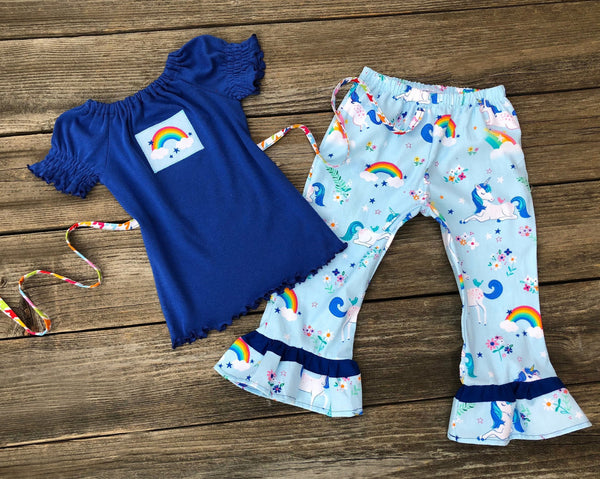 Rainbow Unicorn Girl Outfit