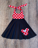 Red Blac Minnie Mouse Dress