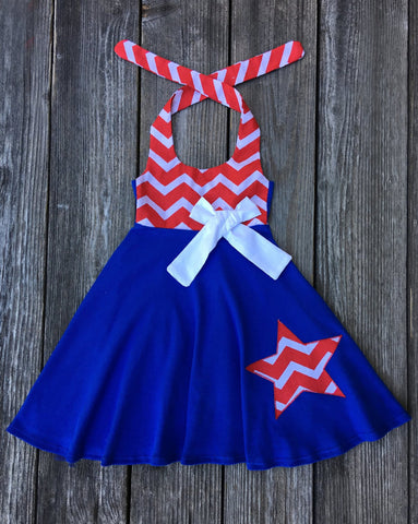 4th Of July Chevron Dress