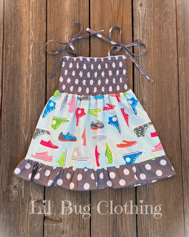 Tennis Shoe Print Dress