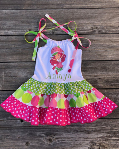 Strawberry Shortcake  Personalized Dress