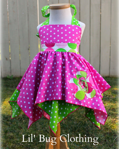 Strawberry Shortcake Handkerchief Dress