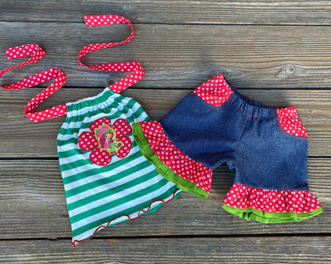 Strawberry Shortcake Boutique Girl Outfit