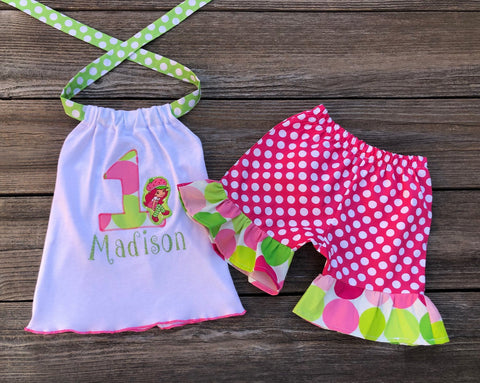 Strawberry Shortcake Birthday Girl Outfit