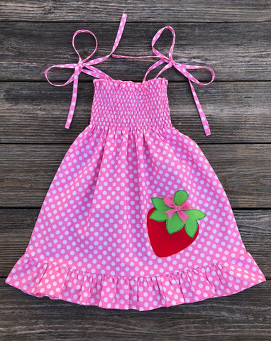 Strawberry Smocked Dress