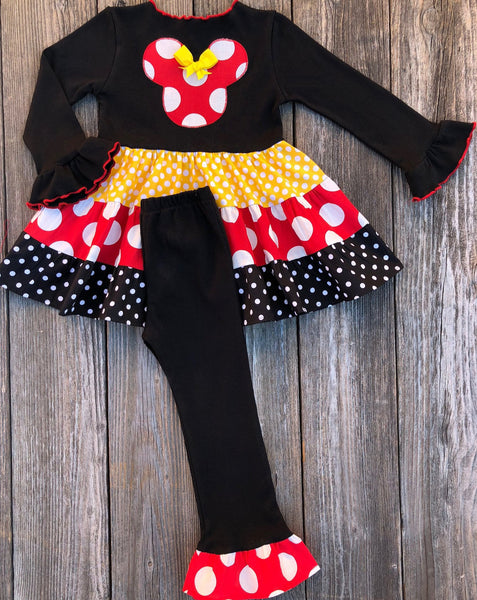Minnie Mouse Red Yellow Black Outfit