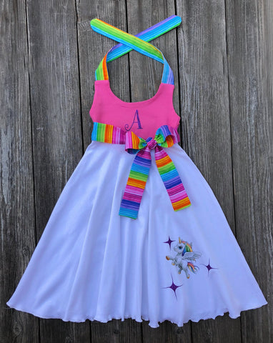 Unicorn Rainbow Dress