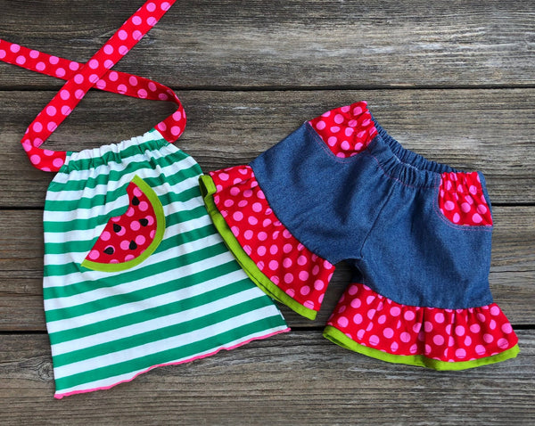 Watermelon Girl Short Set