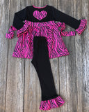 Zebra Print Valentines Day Girl Outfit