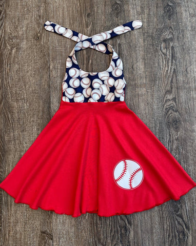 Baseball Girl Dress