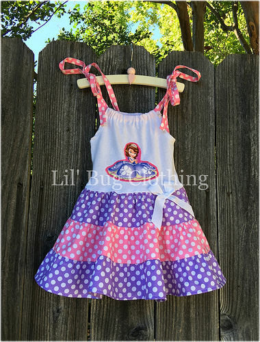 Sofia The First Tiered Polka Dot Dress