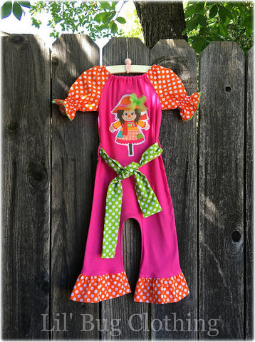 Scarecrow 1 Piece Girl Romper Outfit
