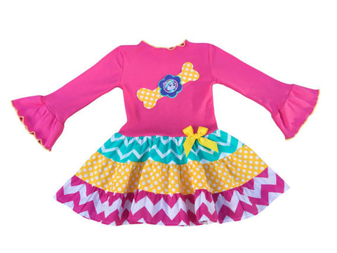 Everest Paw Patrol Tiered Birthday Girl Dress