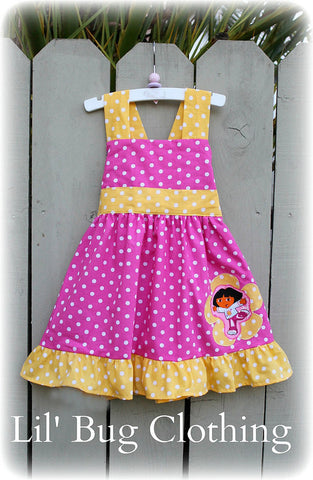 Birthday Dress Dora The Explorer Pink And Yellow Jumper Dress