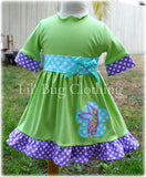 Tinkerbell Lime & Lavender Birthday Dress