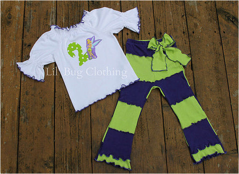 Tinkerbell Birthday Personalized Top & Pant