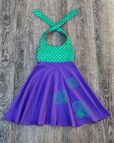 mermaid scale seashell dress