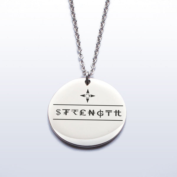 Strength Pendant (Etched)